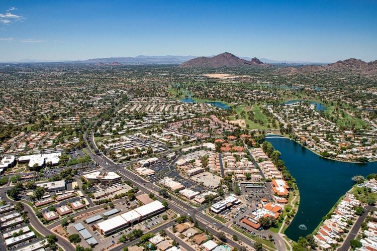 Scottsdale aerial view