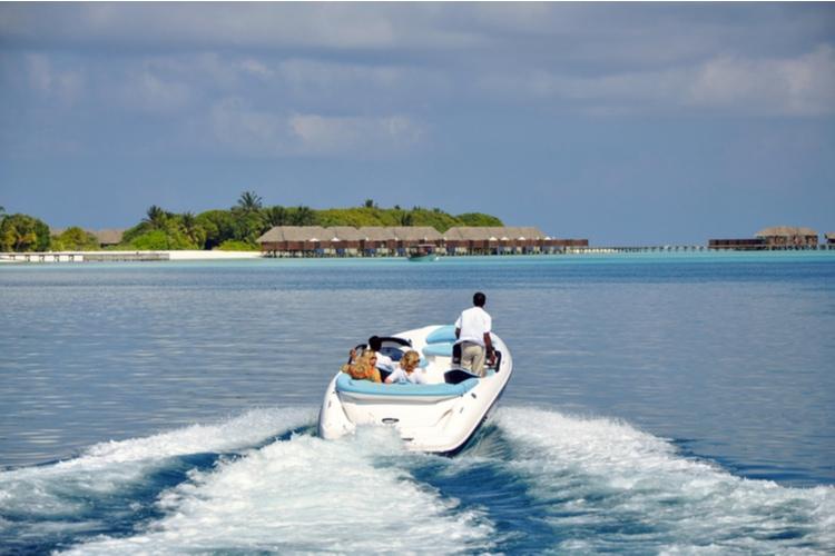 Speedboat in the Maldives