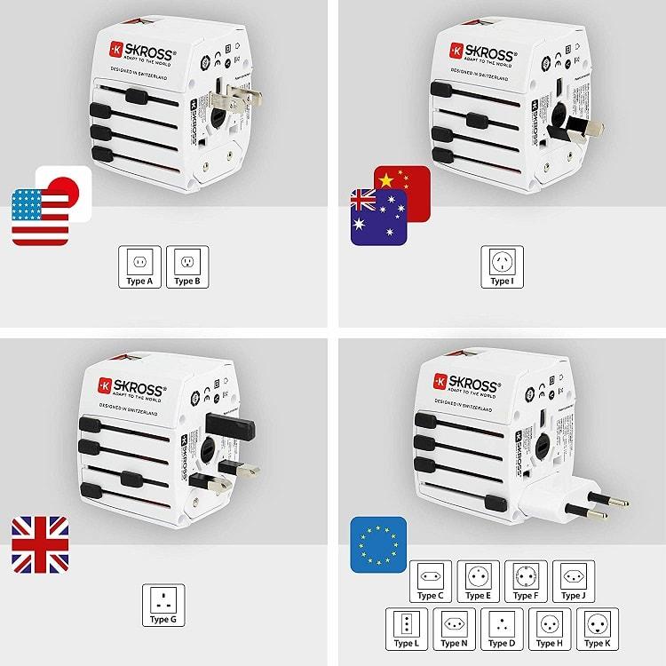 Travel Adapter worldwide
