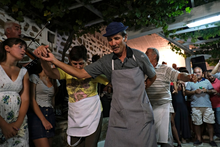 traditional greek island celebration