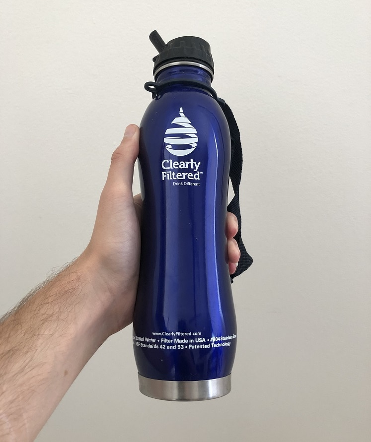 Water bottle with filter