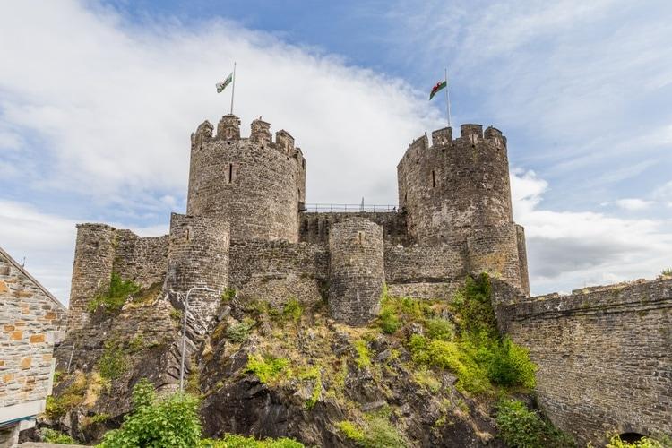 Conwy Castle inner yard
