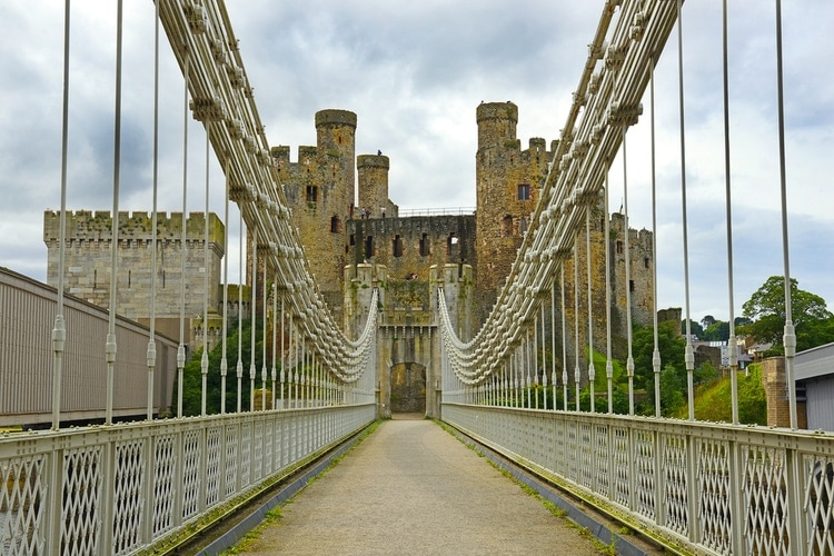 Conwy Castle suspension bridge