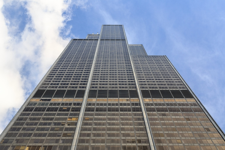 Facade and architecture of Willis Tower