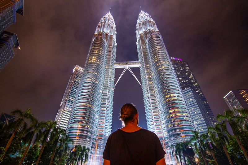 Las Torres Petronas por la noche