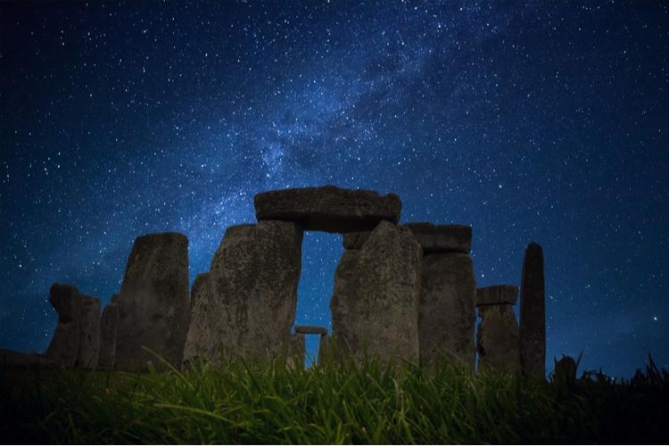 Stonehenge på natten