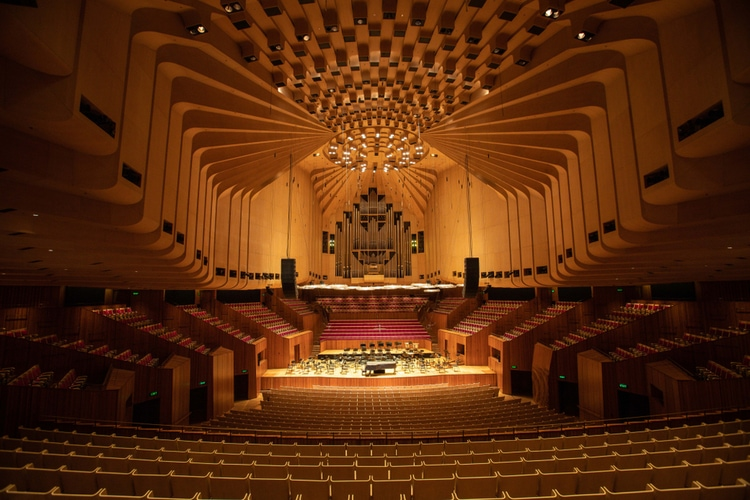 The concert hall of Sydney Opera House