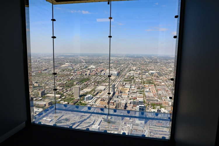 The skydeck at Willis Tower
