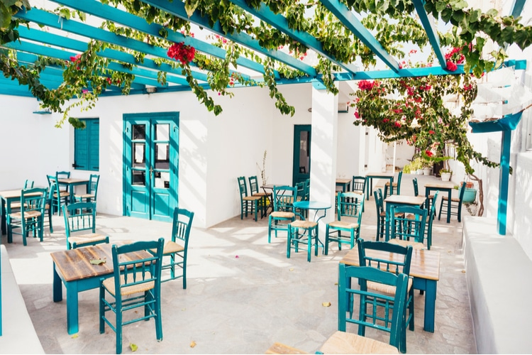 Traditional restaurant in Greece