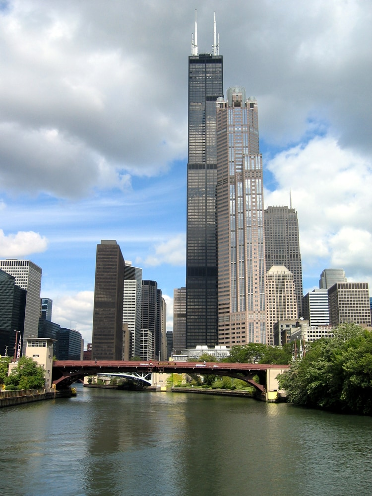 Willis Tower view from river