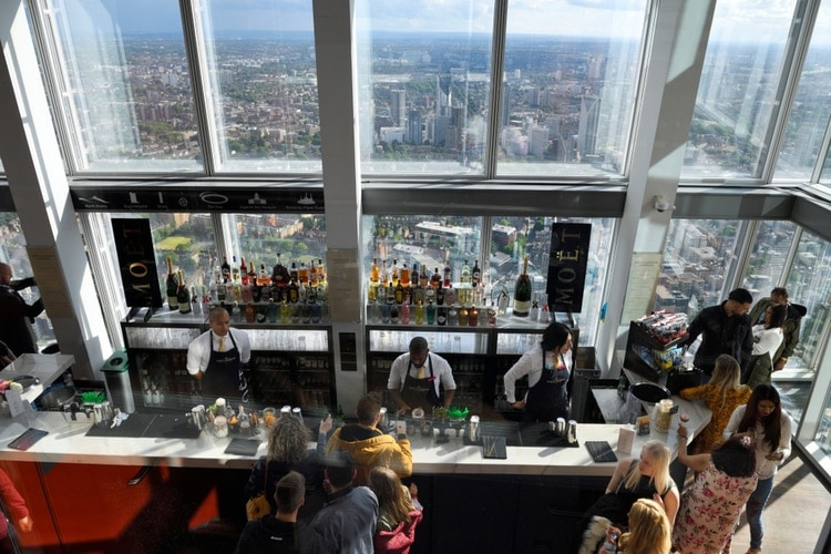 Bar and Observation deck at The Shard