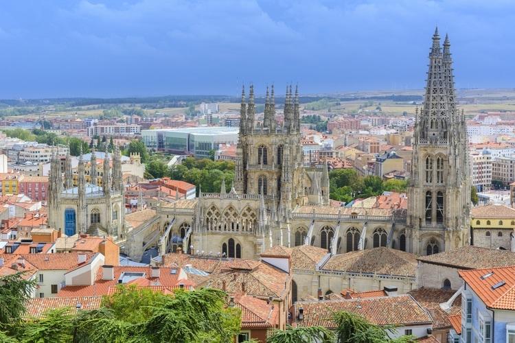 Bästa utsikten över Burgos katedralen