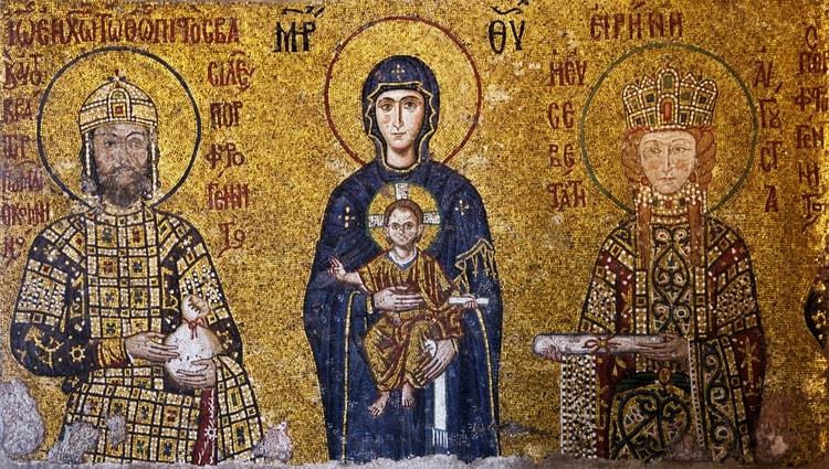 Byzantine mosaics in Hagia Sofia