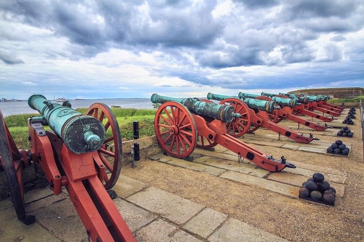 Cannons at Kronborg Slot
