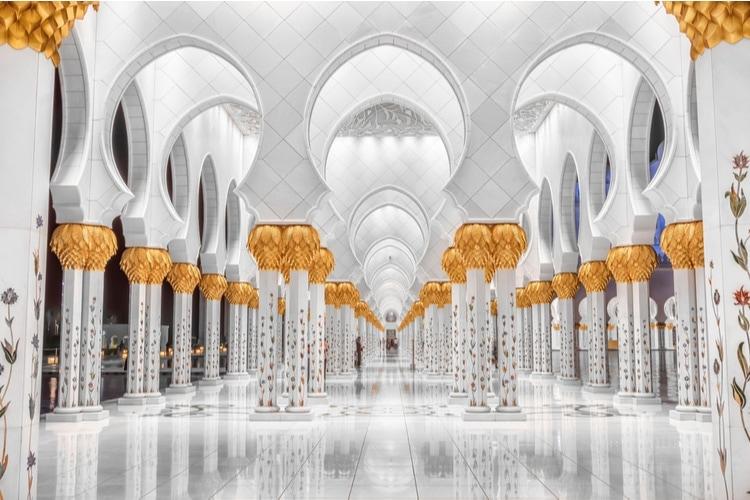 Columns of Sheikh Zayed Mosque