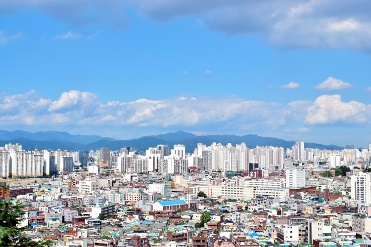 Daegu city in South Korea