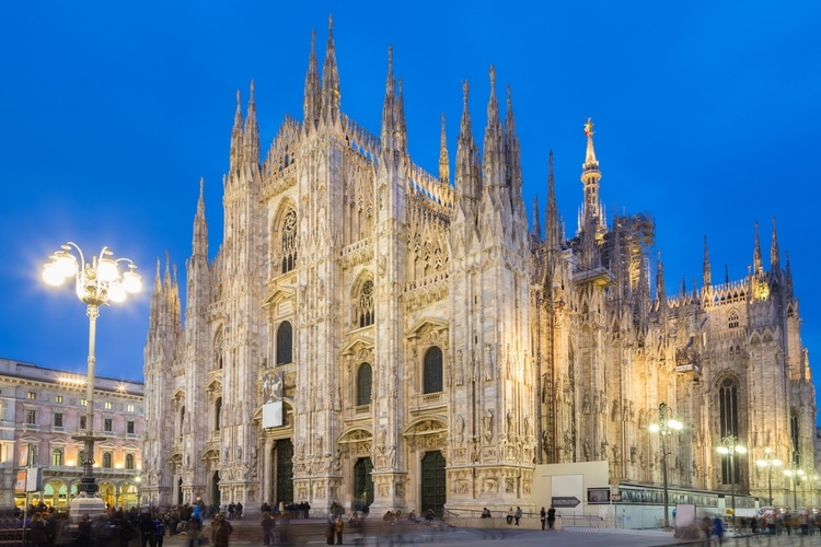 Gothic cathedral in Milano