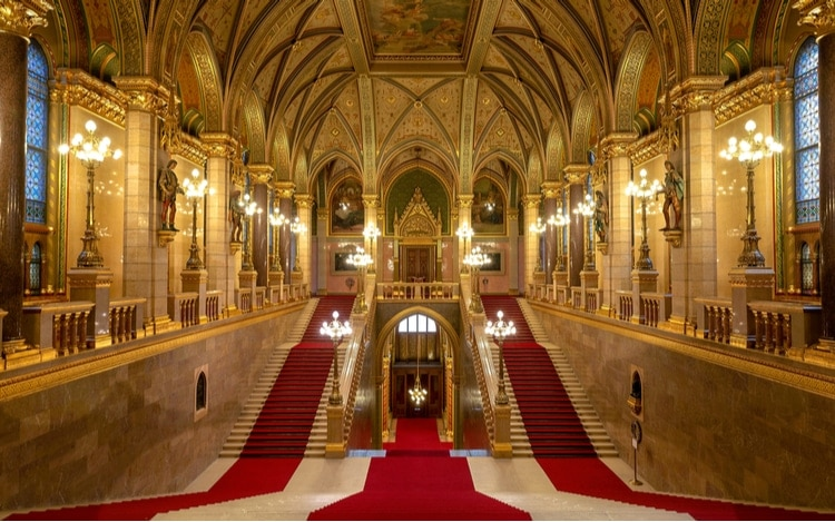 Hungarian Parliament interior