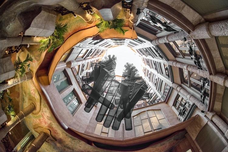 Inside the Atrium of Casa Mila