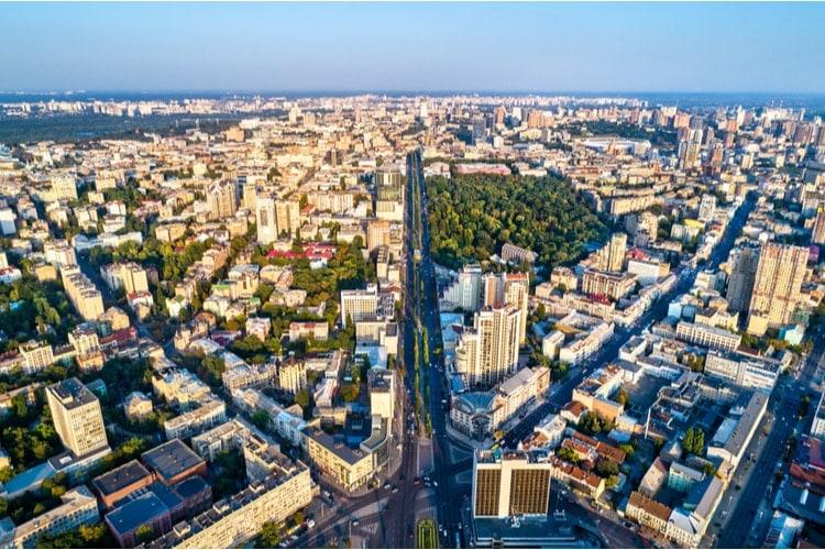 Ukrainas största städer – Antal invånare (2020)