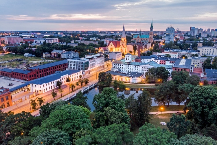 Lodz city in Poland