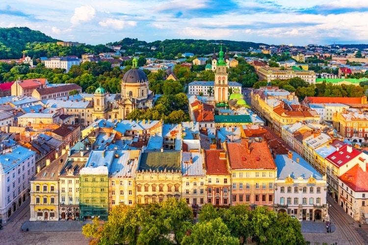 Lviv city in Ukraine