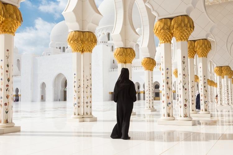 Musulmána en Mezquita Sheikh Zayed