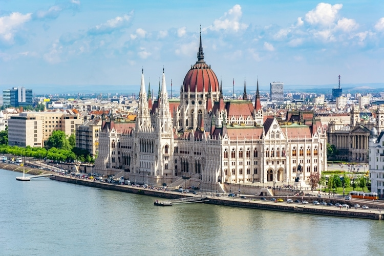 Parliament building in Hungary