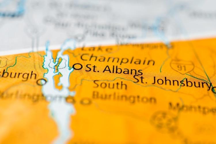 St Albans in Vermont