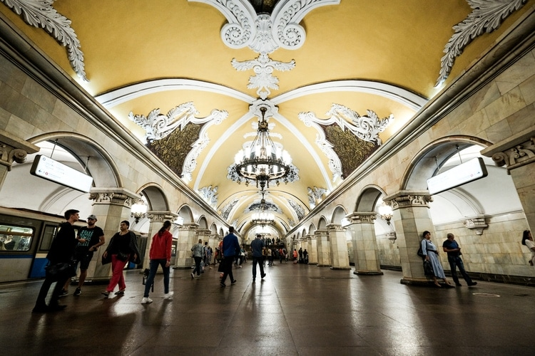 red square metro moscow