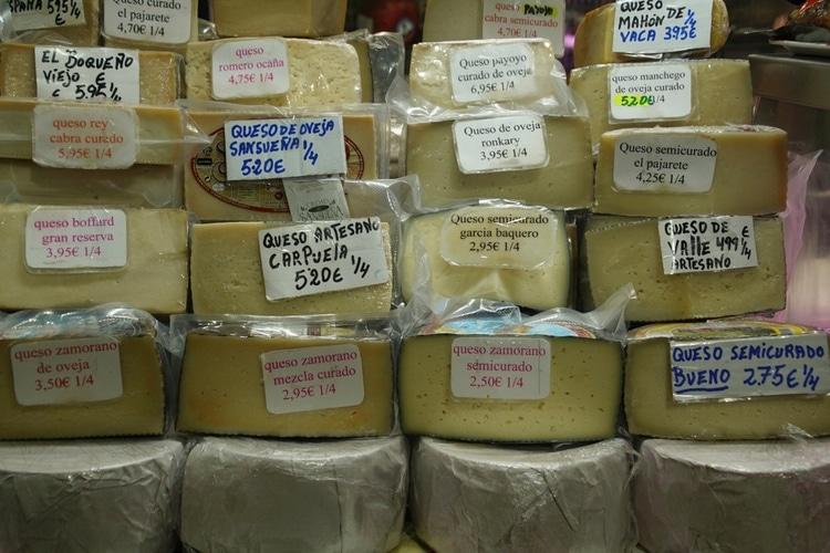 Varieties of Spanish Cheese