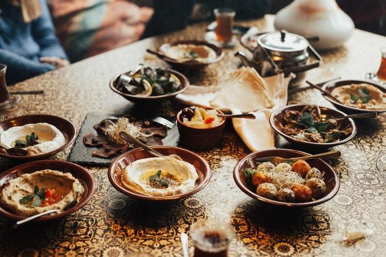 Traditionell mat i Libanon