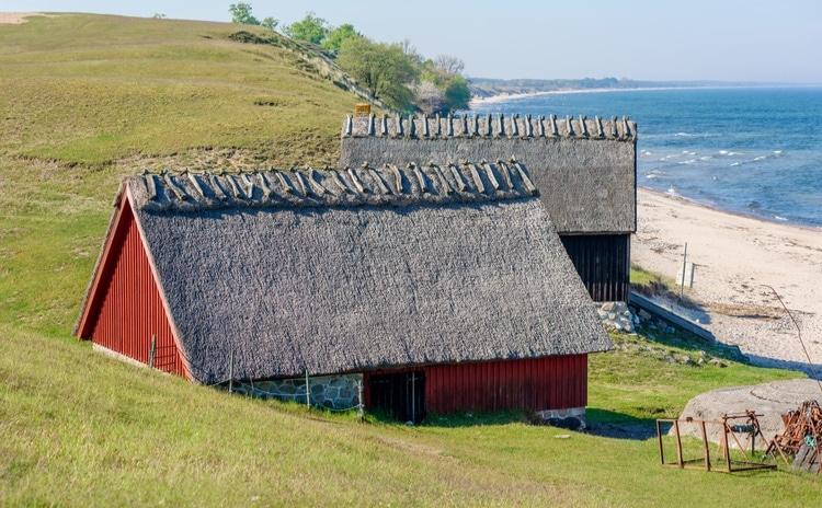 Gamla hus vid Haväng