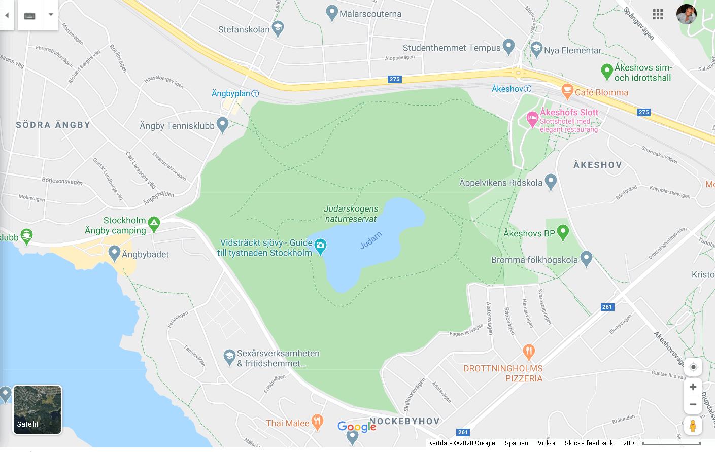 Judarskogens naturreservat karta