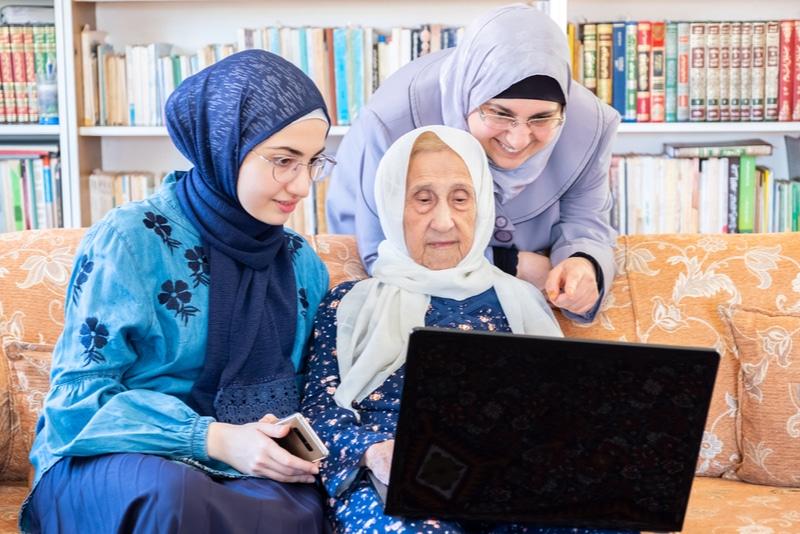 Personer som använder arabiska uttryck