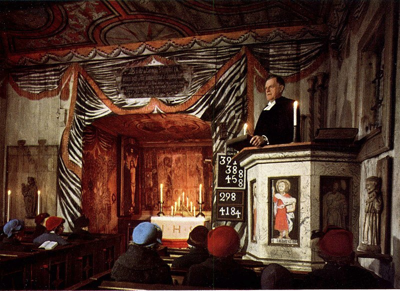 Gudstjänst i Hedareds stavkyrka