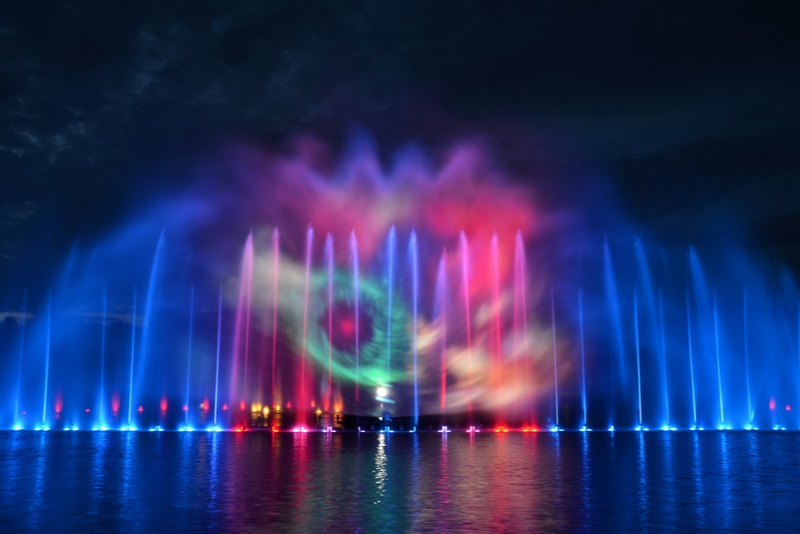 Multimedia Fountain in Wroclaw