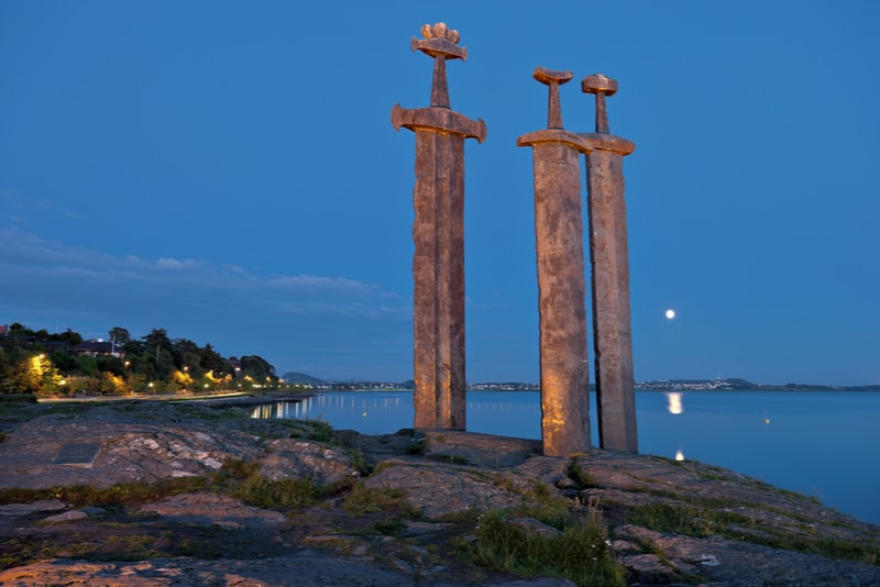 Swords in Rock - A monument in Stavanger