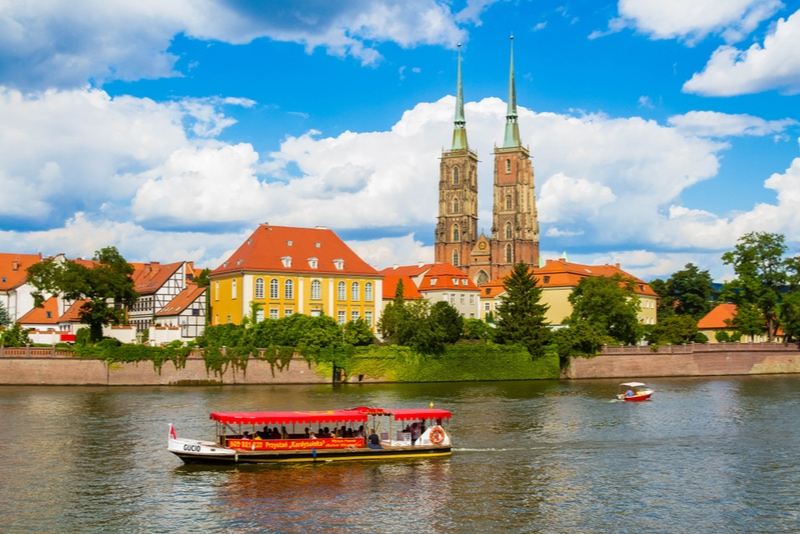 boat cruise in Wroclaw Poland