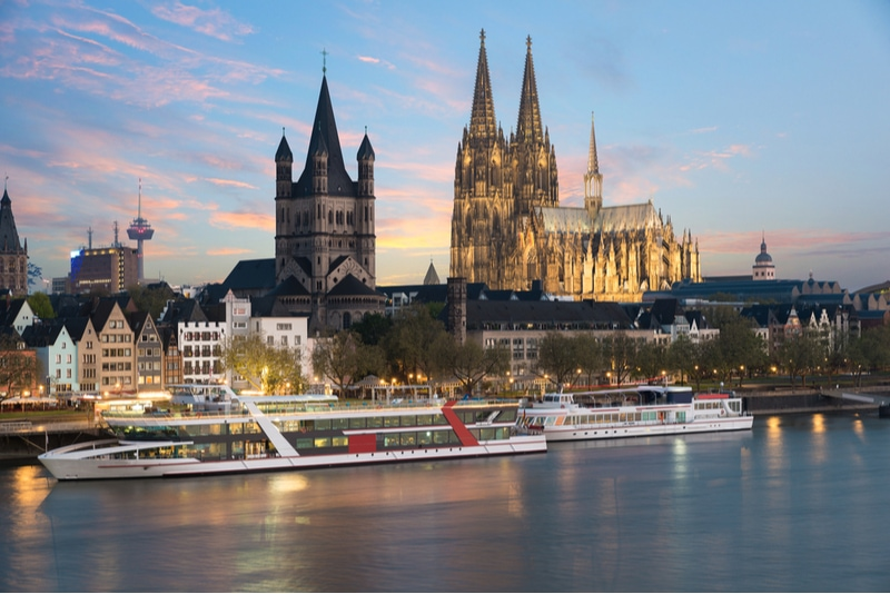 Boat trip along the Rhine