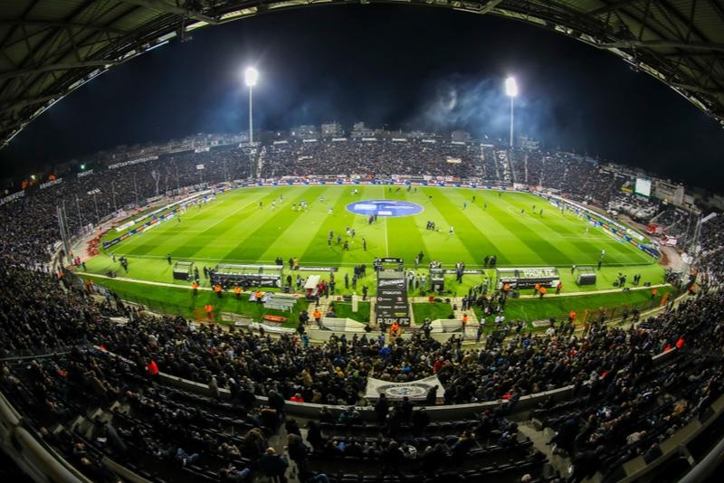Football game in Thessaloniki Greece