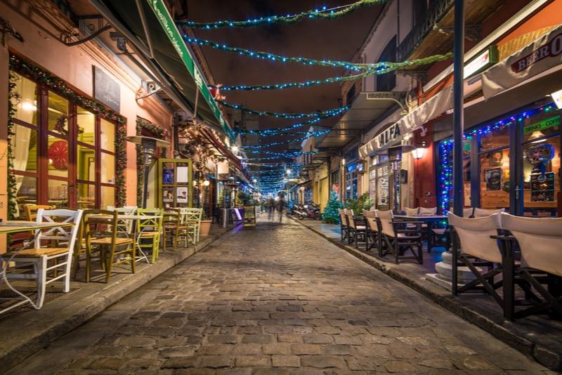 Ladadika neighborhood in thessaloniki