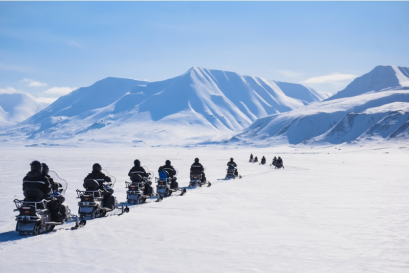 Snowmobile tour in Svalbard