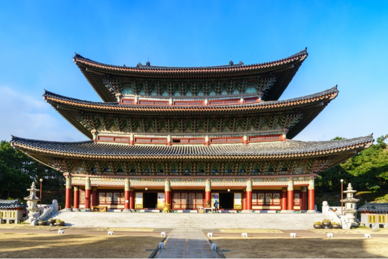 Yakcheonsa temple in Jeju Island