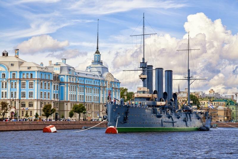 Aurora cruiser Saint Petersburg