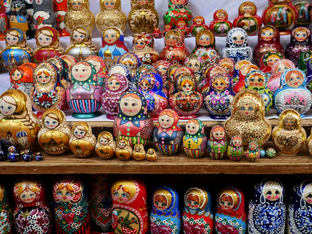 Dolls at Izmailovsky Market