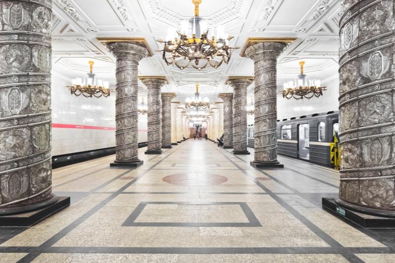 Metro station of Saint Petersburg