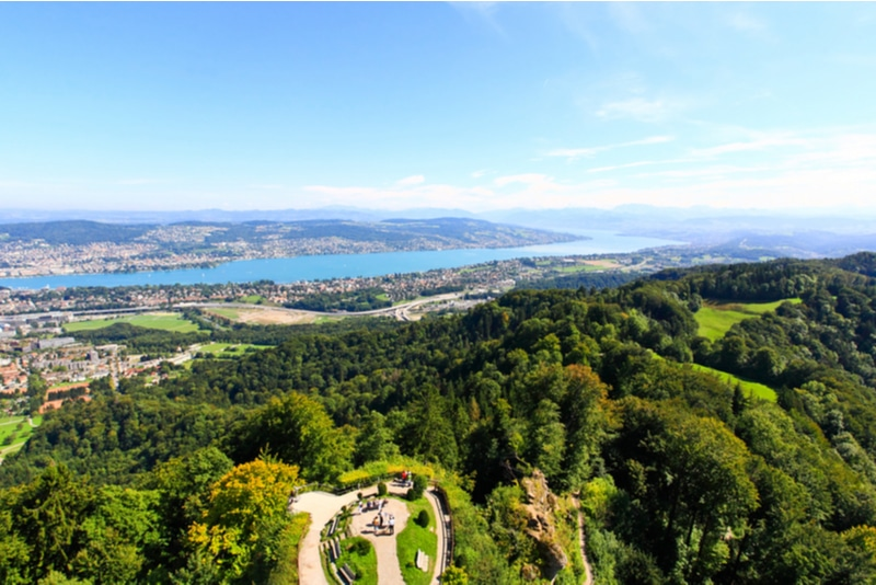 View from Uetliberg Mountain