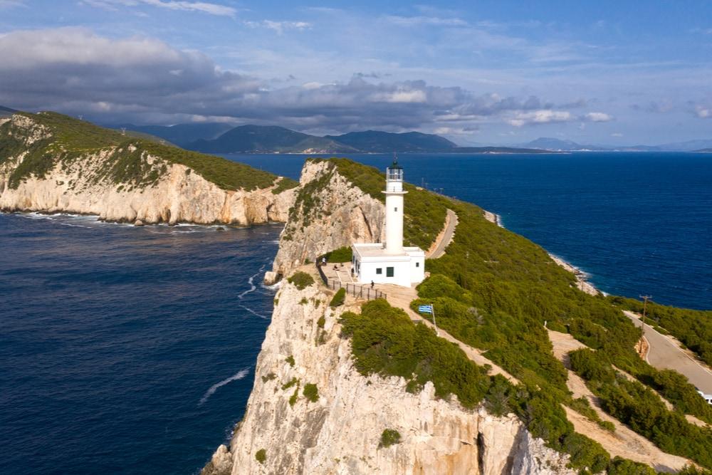 Cape Lefkada and the lighthouse
