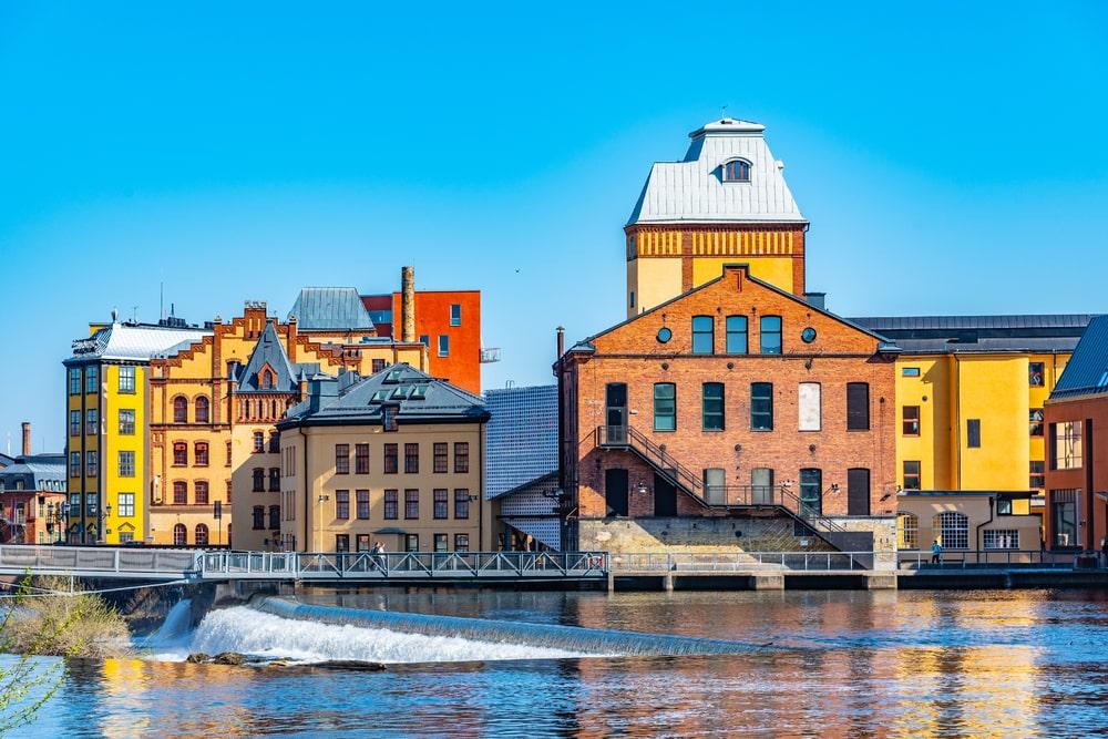 Industrial landscape of Norrköping
